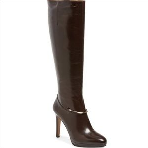 Nine West Pearson Knee High Platform Boots Heel